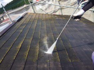 高圧洗浄 屋根工事