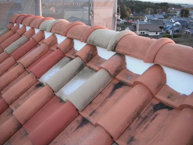 しっくい 屋根修理