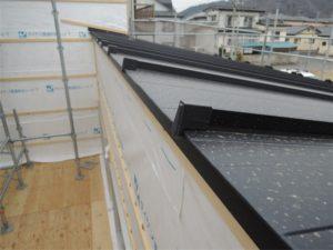 片流れ 屋根工事