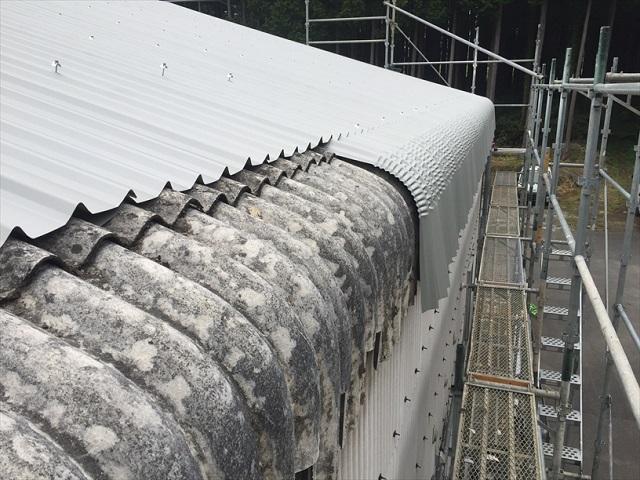 スレートカバー工法 屋根工事