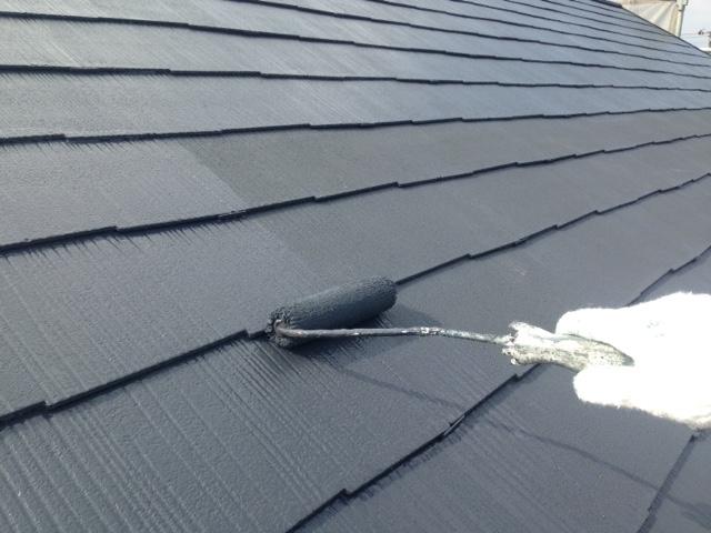 屋根塗装 ダークグレー