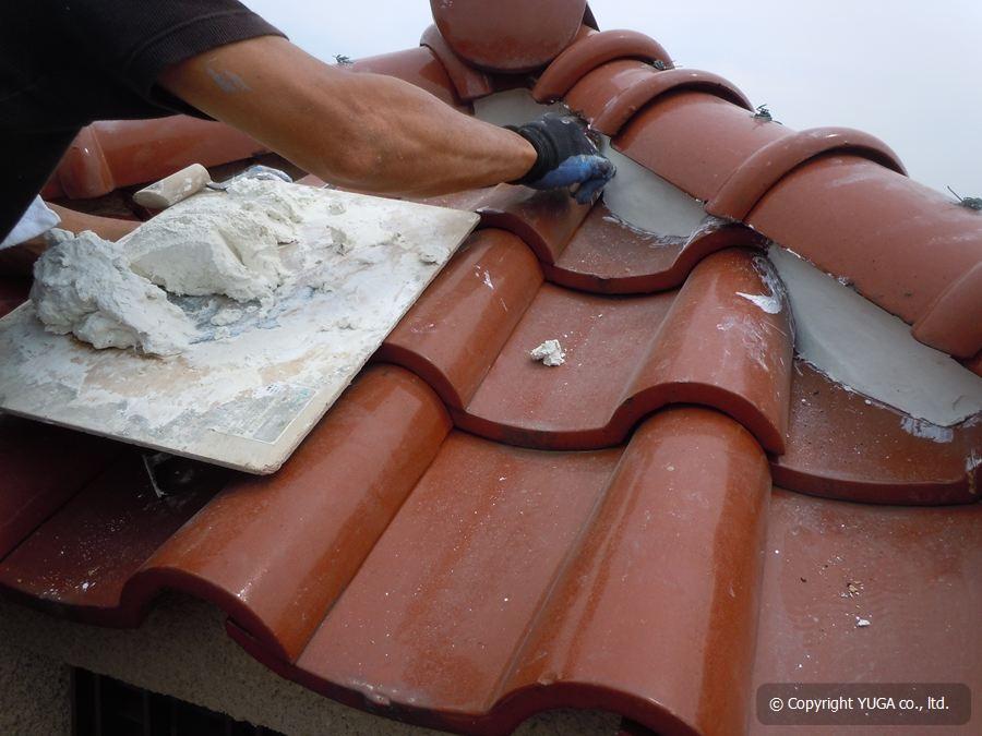 屋根瓦 漆喰